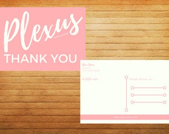 DIGITAL Simple Chic Plexus Thank You Cards - Front & Back