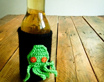 Crochet octopus beer cozy