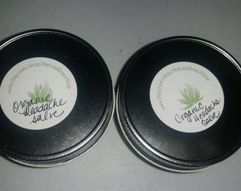 Organic headache salve 4oz