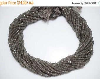 45% OFF Good Quality Gray Moonstone Rondelle Beads 13 Inch Strand ,Gray Moonstone Faceted Rondelle Beads , 3.25-3.50 mm - MC404