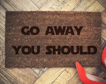 YODA Star Wars Welcome Doormat go away you should