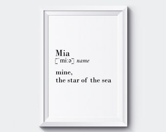 CUSTOM Name Definition Print Name Definition Name Print Definition Print Name Meaning Name Art Name Definition Art Name Print ANY SIZE