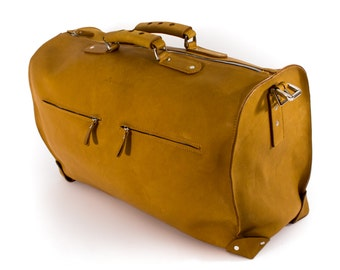 leather duffle bag, leather duffel, bag, man, weekender bag, vintage, hipster, full grain, thick. leather luggage