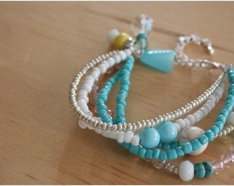 Blue Beaded Bracelet - 02