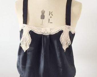 Vintage lace boudoir top