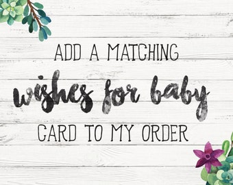 Matching 'Wishes for Baby' card insert
