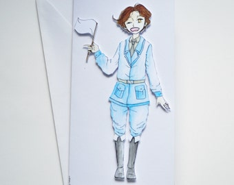 Italy - Hetalia Handmade Greetings Card - Happy Birthday - Well Done - Thank You - Friend Card - Blank
