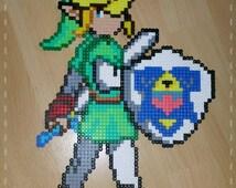 Link Zelda Nintendo bracket Pearl Perler ironing image pixel art