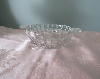 Vintage Small Crystal Bowl,Serving Bowl,Candy Dish