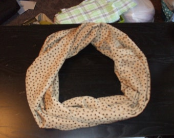 Infinity Scarf, Gold and Black