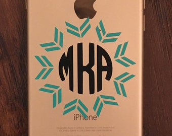 iPhone Decal Monogrammed