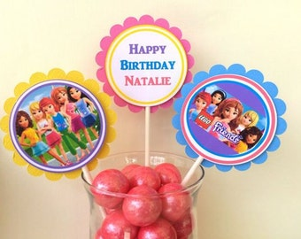 Lego Friends Cupcake Toppers