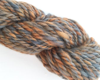Thick Yarn - Thick Hand Spun - Hand Dyed Wool Skein - Chunky Yarn - Chunky Yarn for Felting - Bulky Knit Yarn - Chunky Knit Yarn