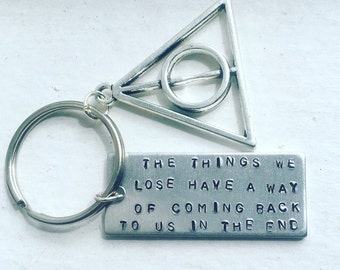 The Things We Lose Have A Way Of Coming Back To Us In The End Harry Potter Keychain