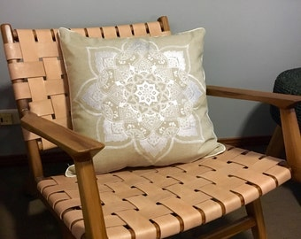 White Mandala on Linen