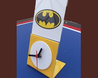 Yellow & White Desk Clock