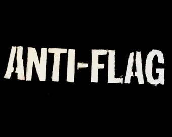 ANTI FLAG punk/crust patch