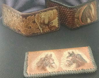 Horse and Deer Leather Art 2