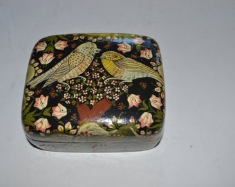 Kashmir Laquer Box with Birds Limited Edition