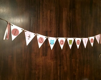 It's a Girl Woodland Creature Themed Banner