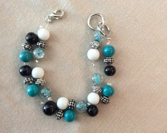 Double stranded beaded bracelet