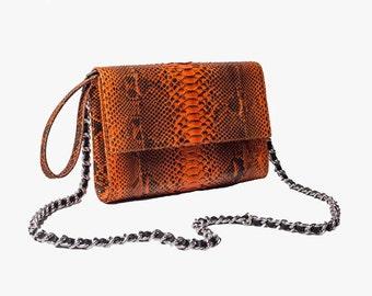 A.TERRERI handmade python handbag