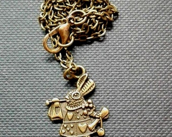Necklace pendant rabbit (Alice in Wonderland)