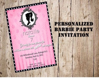Barbie Party Invitation