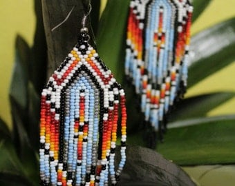 Handcrafted-jewelry earrings Mexicana - Mexico