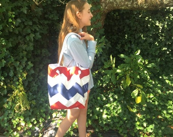 Red, White and Blue Summer Tote