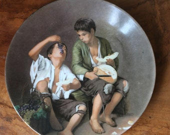 REDUCED to clear  Collector's bone china plate MZ Czechoslovakia