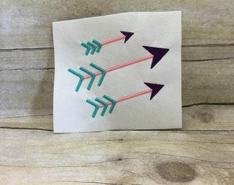 Arrow Embroidery Design, Single Arrow Embroidery Design