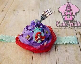 fake cupcake frosting headhand little mermaid