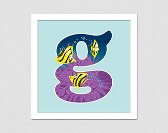 Animal Alphabet Letter G Fish