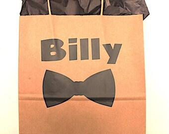 Groomsmen Gift Bag | Custom Kraft Bag | Groom Gift Bag | Party Favor | Personalized Gift Bag | Thank You