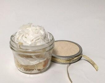 Coconut Cupcake in a Jar