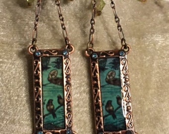 USA FREE SHIPPING!!  Slab Style Decorative/Vintage Look Earrings