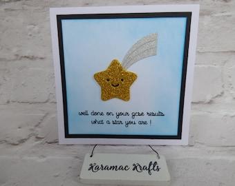 Handmade Well Done GCSE Congratulations card