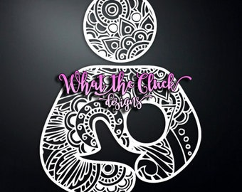 Paisley Breastfeeding - Vinyl Sticker Decal - 6 in. x 4.5 in.