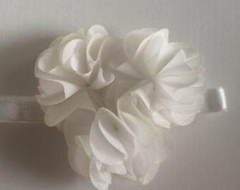 White Newborn Headband