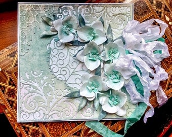Handmade orchids card,all occasions