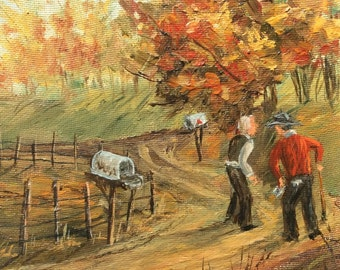 """Miniature Oil Painting, Entitled """"Eh?"""" By artist Marlene H Martin"""