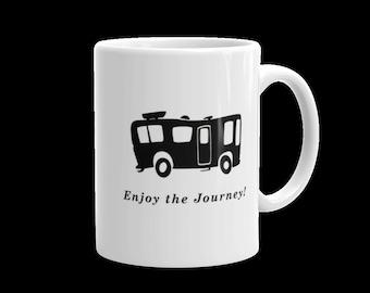 Camping Mug - Enjoy The Journey - Motorhome - Camp Coffee