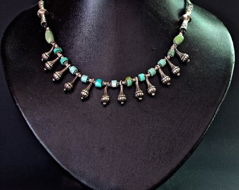 Turquoise and Thailand Silver pendants Necklace