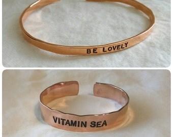 jewelry bracelet custom copper silver