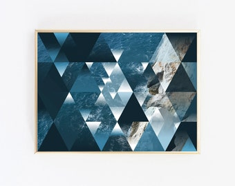Coastal Print, Triangle Print, Nautical Print, Coastal Decor, Beach Photography, Coastal Wall Art, Ocean Print, Beach Decor, Beach Wall Art