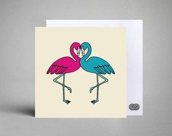 Flamingo Notecard