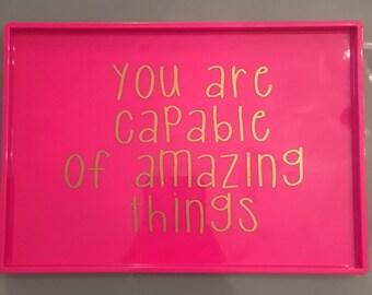 Pink Acrylic Tray