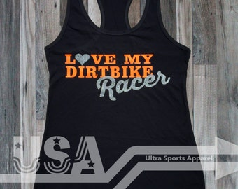 Love my Dirtbike Rider Customizable Tank Top