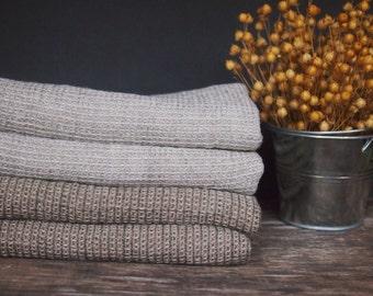 Set of 2 Linen Bath Towels, Face Towels, Grey, Brown Linen Towels, Linen Gift